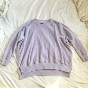Aerie Lilac Oversized Sweatshirt/Sweater